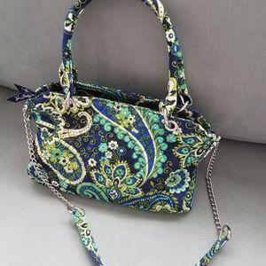 Vera Bradley Blue/Green Paisley Tote/Shoulder Bag